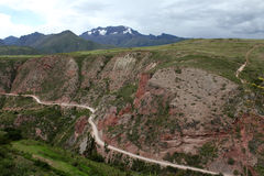 Maras, peru. The countryside in the maras twon Royalty Free Stock Image