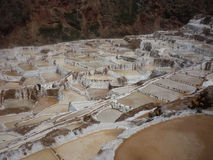 Maras. Salinas de Maras (salt mine). Sacred Valley, Peru Royalty Free Stock Image