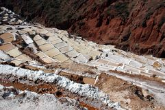Maras Salt Mine Stock Photography