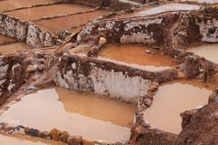 Maras salt mines Stock Photo