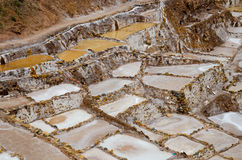 The Maras Salt Mines, Peru Stock Photo