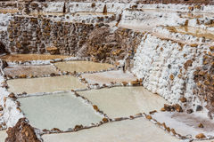 Maras salt mines peruvian Andes  Cuzco Peru Royalty Free Stock Photography