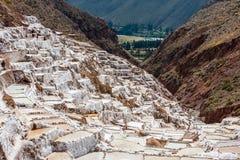 Maras salt mines peruvian Andes  Cuzco Peru Stock Image