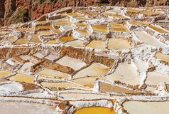 Maras Salt Terraces near Cusco, Peru stock photo
