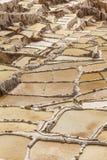 Maras-Salzbergwerke peruanische Anden Cuzco Peru Stockfotografie