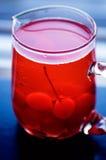 Maraschino Cherries. A glass of maraschino cherries in soft light Stock Image