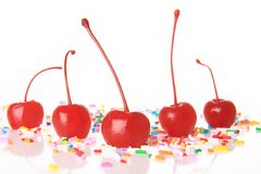 Maraschino cherries Royalty Free Stock Photo