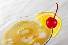 Maraschino Cherry and Orange Slice Royalty Free Stock Photo