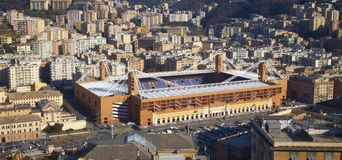 Marassi Stadium in Genoa (Panorama) Stock Photos