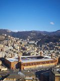 Marassi Stadium in Genoa (Panorama). Panorama of the Marassi football stadium in Genoa, Liguria. Italy Stock Photo