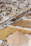 Maraszoutmijnen de Peruviaanse Andes Cuzco Peru Royalty-vrije Stock Afbeeldingen