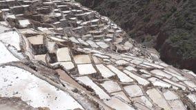Maraszoutmijnen in Peru stock video