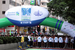 Maratón 2010 de Hong-Kong Fotos de archivo libres de regalías