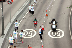 Maratón 2010 de Hong-Kong Foto de archivo