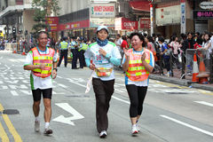 Maratón 2010 de Hong-Kong Imágenes de archivo libres de regalías