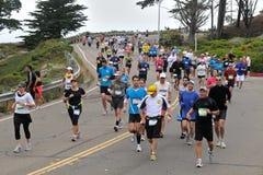 Maratón 2010 de San Francisco - Presidio Imagen de archivo libre de regalías