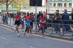 Maratón 2012 de Londres - Lel, Mutai, Tsegay, Worku Imagen de archivo libre de regalías