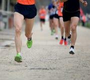 maratón con muchos corredores fotos de archivo libres de regalías