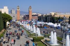 Maratón de Barcelona Fotografía de archivo libre de regalías