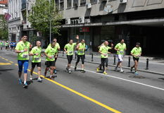 Maratón 2014 de Belgrado foto de archivo