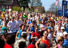 Maratón de Boston fotografía de archivo
