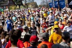 Maratón de Boston imagenes de archivo