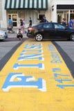 Maratón de Boston Imagen de archivo libre de regalías