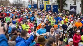 Maratón 2015 de Boston fotografía de archivo libre de regalías