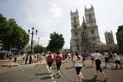 2013, maratón de británicos el 10km Londres Imágenes de archivo libres de regalías