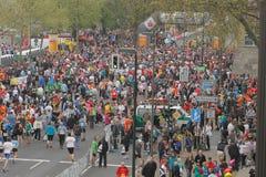 Maratón de Duesseldorf Imágenes de archivo libres de regalías