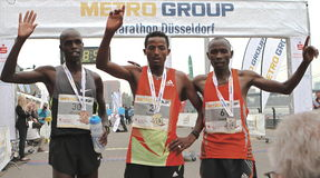 Maratón de Duesseldorf Foto de archivo