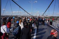 Maratón de Estambul Foto de archivo libre de regalías