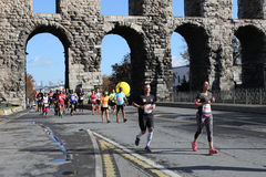 38 Maratón de Estambul Imágenes de archivo libres de regalías