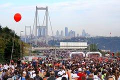 Maratón de Estambul Eurasia Foto de archivo