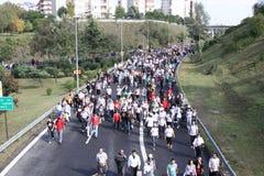 Maratón de Eurasia Fotografía de archivo libre de regalías