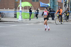 Maratón de Kara Goucher Runner NYC Foto de archivo