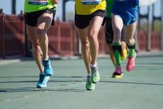 Maratón de Kyiv del poshta de Nova medio en Kyiv Imágenes de archivo libres de regalías