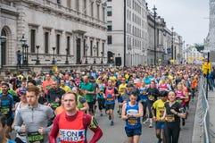Maratón de las señales de Londres el medio imagen de archivo