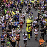 2015, maratón de Londres Imagenes de archivo