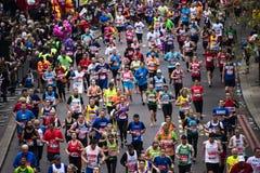 2015, maratón de Londres Imágenes de archivo libres de regalías