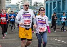 Maratón de Londres del dinero de la Virgen 24 de abril de 2016 Imagen de archivo