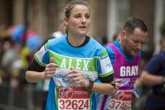 Maratón de Londres del dinero de la Virgen 24 de abril de 2016 fotografía de archivo libre de regalías
