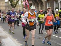 Maratón de Londres del dinero de la Virgen, el 24 de abril de 2016 Fotos de archivo libres de regalías