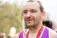 Maratón de Londres del dinero de la Virgen, el 24 de abril de 2016 Imagenes de archivo