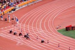 Maratón de los hombres en los juegos de Pekín Paralympic Fotos de archivo