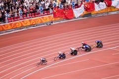 Maratón de los hombres en los juegos de Pekín Paralympic Imágenes de archivo libres de regalías