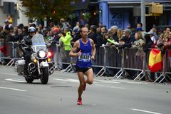 Maratón de 2017 NYC - Jared Ward Mens Elite fotografía de archivo