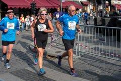 Maratón de Oslo, Noruega Foto de archivo libre de regalías