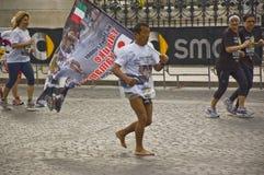 Maratón de Roma imagenes de archivo