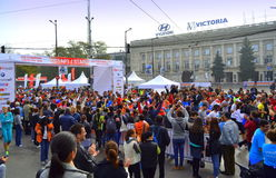 Maratón de Sofia Bulgaria Fotos de archivo